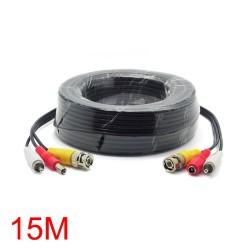 CABLE COAXIAL 15M CONEXION CAMARAS CCTV VIDEO Y AUDIO