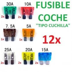 12x FUSIBLES COCHE FURGONETA TIPO CUCHILLA
