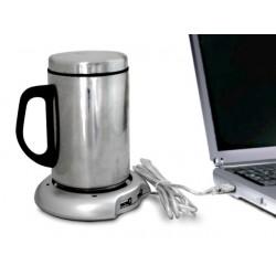 CALIENTA TAZAS USB CON 4 PUERTOS USB