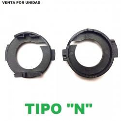 CLIP ADAPTADOR XENON Y LED SOPORTE BOMBILLA H7 KIA HYUNDAI TIPO N