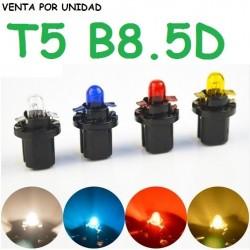 BOMBILLA T5 B8.5D 1.2W 286 LUZ MARCADOR INTERIOR HALOGENA