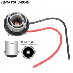 CONECTOR DE RECAMBIO BOMBILLA BA15S 1156 P21W 1 POLO ESTANDARD