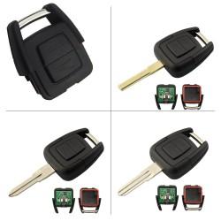 Llave Circuito Mando y Chip Transponder Opel 2 Botones Ref. D