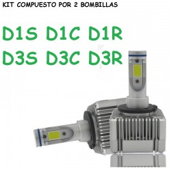 Kit Bombillas D3S D1S Led 20000 Lúmenes 12/24V Coche Camión Furgoneta
