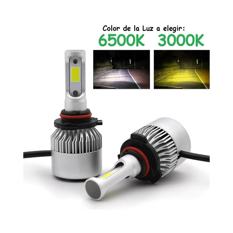 Kit HB4 9006 HIR2 H1R2 9012 Led 16000 Lúmenes Luz Blanca o Amarilla