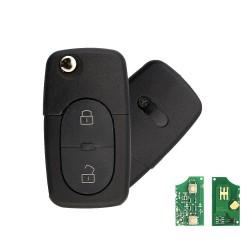 Llave Circuito Mando y Chip Transponder Audi 2 Botones Ref. 18