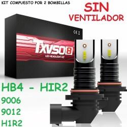 Kit HB4 HIR2 9006 9012 Led 26000 Lúmenes Sin Ventilador Luz Blanca