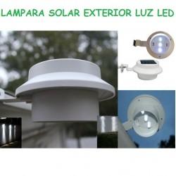 LAMPARA LED EXTERIOR SOLAR CON SENSOR DE MOVIMIENTO